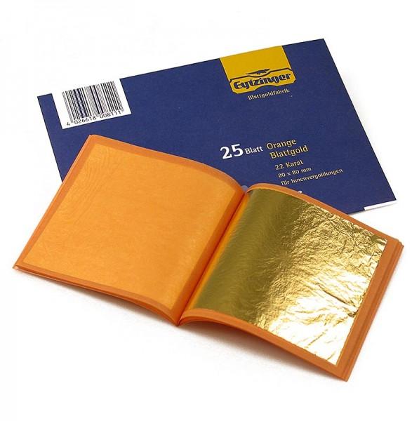 Eytzinger - Gold - Blattgold Heftchen 22 Karat 80 x 80 mm E175