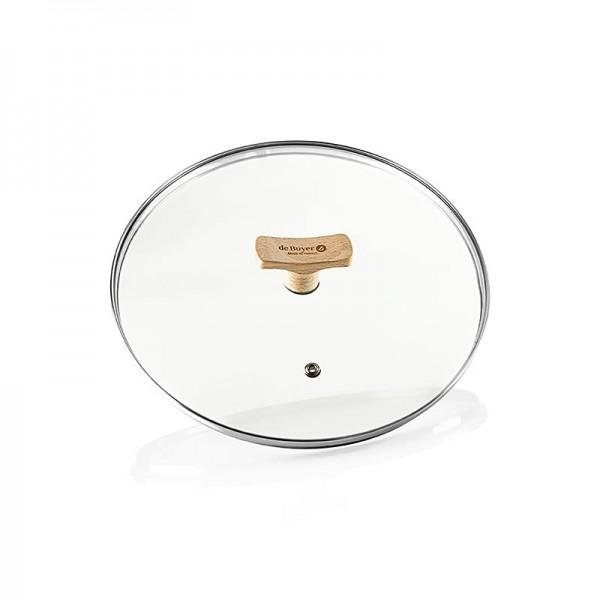 de Buyer - B Bois Universaldeckel aus Glas mit Buchenholzgriff Ø 24cm De Buyer