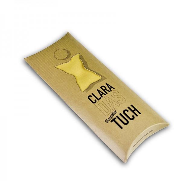 Clara - Glaspoliertuch Clara aus Microfaser gelb