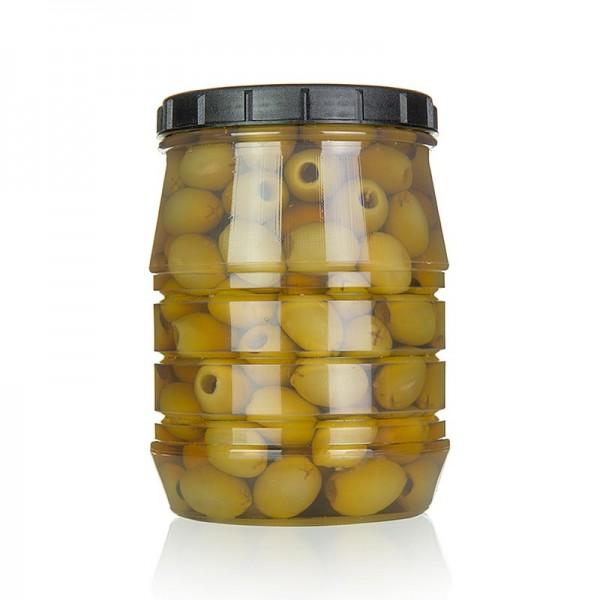 Linos - Grüne Oliven ohne Kern in Lake Linos