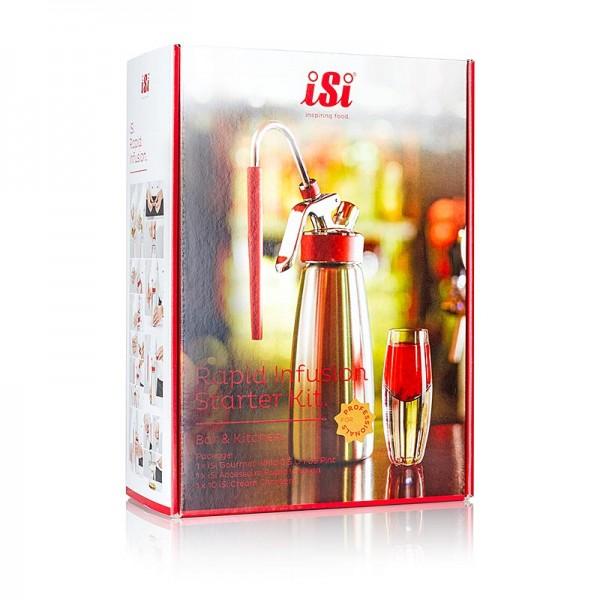 iSi Gourmet Whip - Espuma - Profi Geschenkset iSi Rapid Starter (Sprayer/Buch/Kapseln/Infusion)