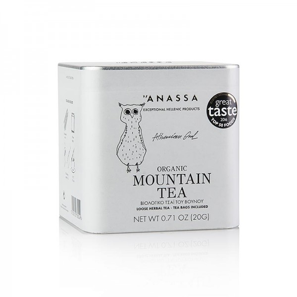 Anassa - ANASSA Greek Mountain Tea (Berg Tee) lose mit 20 Beuteln BIO