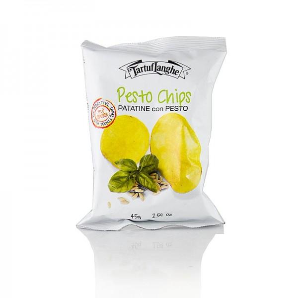 Tartuflanghe - TARTUFLANGHE Pestochips Kartoffelchips mit Pestogeschmack