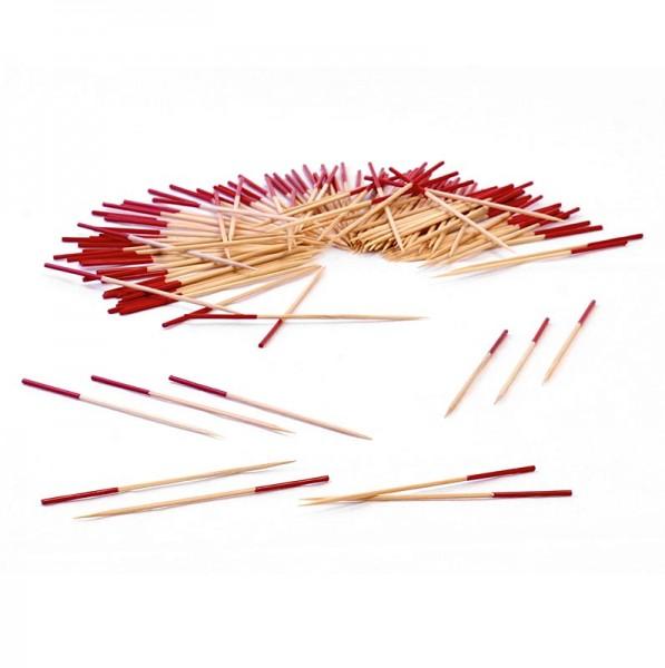 Deli-Vinos Kitchen Accessories - Holz-Spieße mit rot gefärbtem Ende 9cm